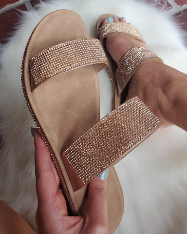 Rose Gold Sparkle Sandals