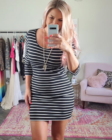 All Time Classic Stripped Dress