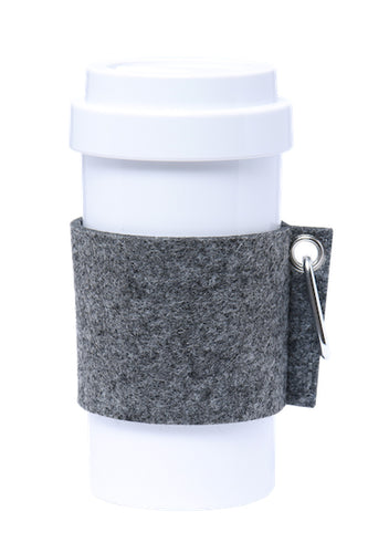 Eco Amigo - PLA Cafe Plus with Felt Mug Sleeve - Dark Grey