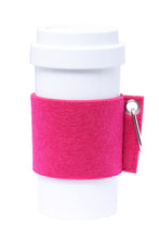 Load image into Gallery viewer, Eco Amigo - Cafe Plus - Felt Mug Sleeve - Fuchsia