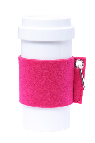 Eco Amigo - Cafe Plus - Felt Mug Sleeve - Fuchsia