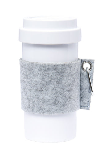 Eco Amigo - Cafe Plus - Felt Mug Sleeve - Light Grey