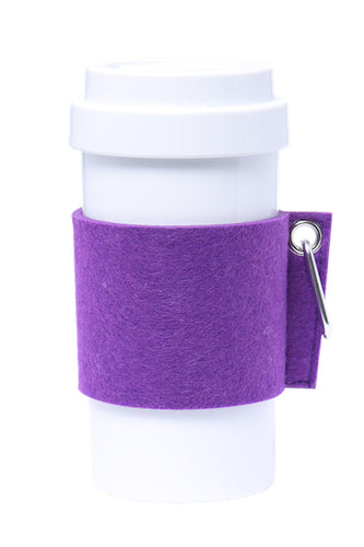 Eco Amigo - Cafe Plus with Felt Mug Sleeve - Purple