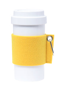 Eco Amigo - Cafe Plus - Felt Mug Sleeve - Yellow