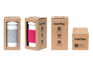 Eco Amigo - Cafe Plus - Felt Sleeve + Cardboard Packaging