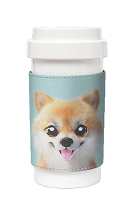 Eco Amigo - Cafe Plus with PU Sleeve Tan The Pomeranian