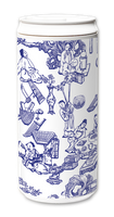 Load image into Gallery viewer, Plastic Free Green Tumbler 330ml - GOD blue and white print and design