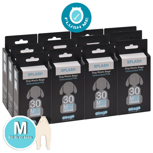 "Doo-n-go MEDIUM Poop Bags, 360 bags. Bags are 8""x12"" FLUSHABLE PLASTIC FREE EARTH-FRIENDLY STRONG and LEAKPROOF for dogs <60 lbs Over 2 months supply"