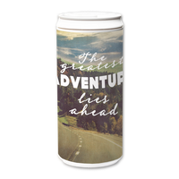 Plastic Free Green Tumbler 330ml - The Greatest Adventure Lies Ahead Inspirational Quote