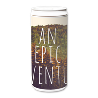 Plastic Free Green Tumbler 330ml - An Epic Adventure Inspirational Quote