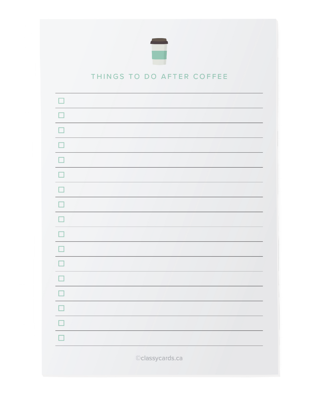 After Coffee Notepad