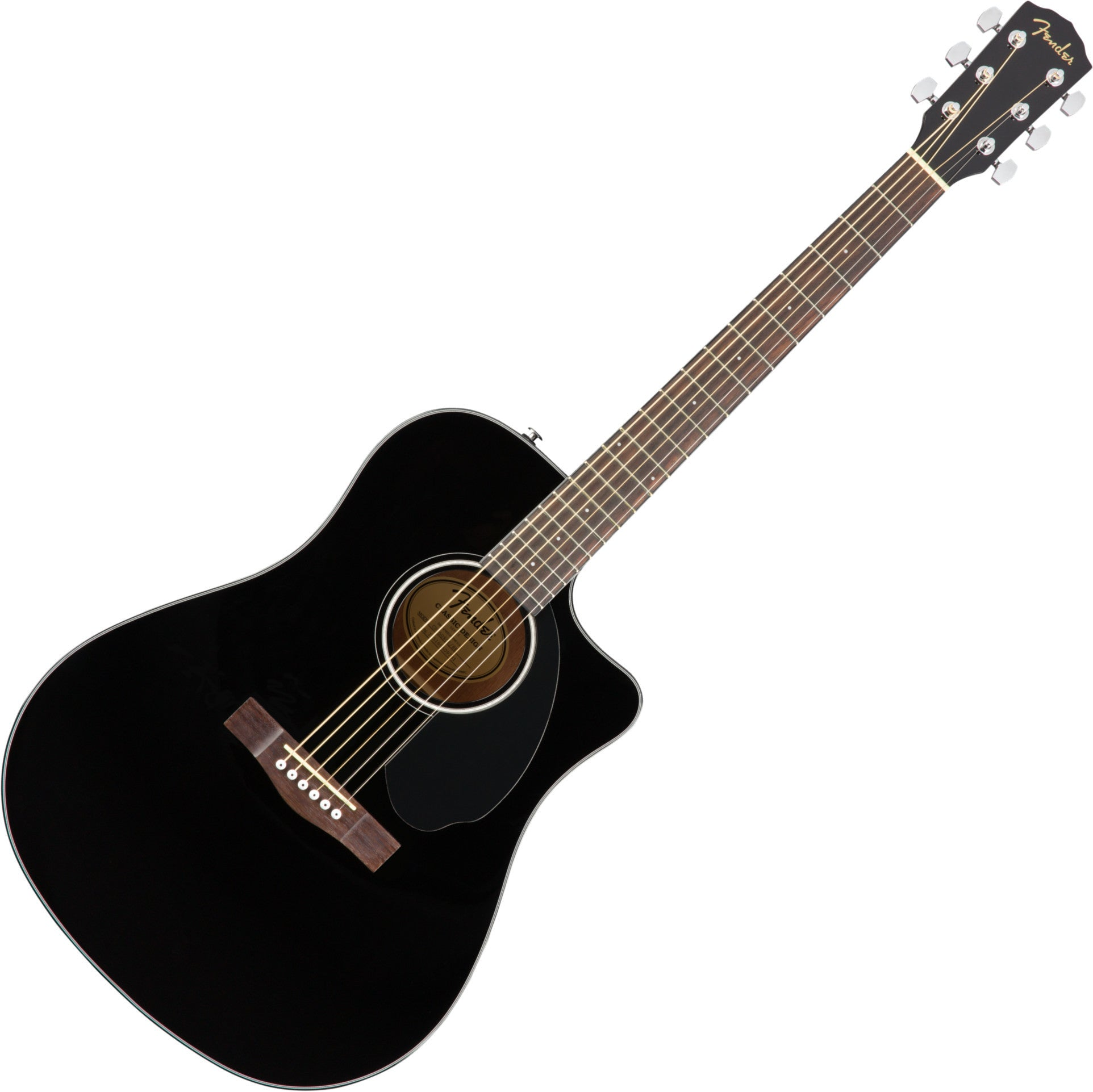 Fender CD60SCE Dreadnought Acoustic Electric Guitar Black