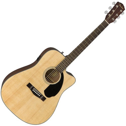 Fender CD60SCE Dreadnought Acoustic Electric Guitar Natural