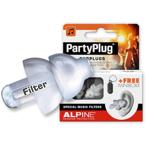 Alpine Music Safe Pro Ear Plugs, White or Black