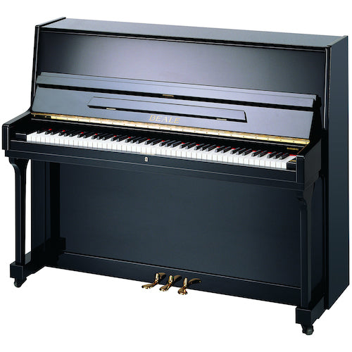 BEALE UP115 Polished Ebony Acoustic Piano with matching stool