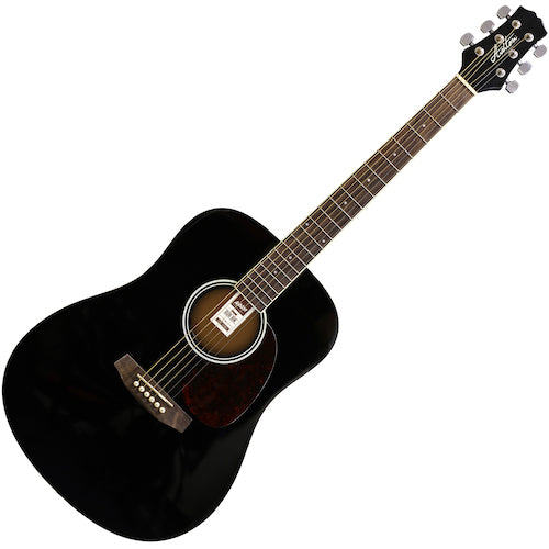 Ashton D20BK Acoustic Guitar, Black