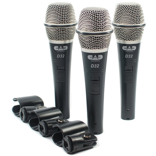 CAD D32 Microphone 3 Pack with case