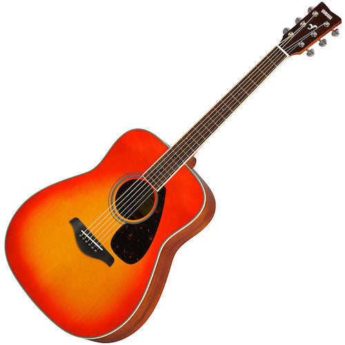Yamaha FG820AB Solid Top Acoustic Guitar, Autumn Burst
