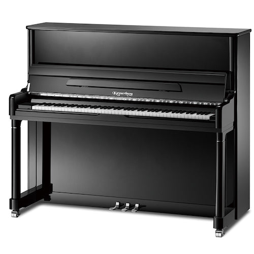 Kayserburg UH126 Upright Piano, Polished Ebony