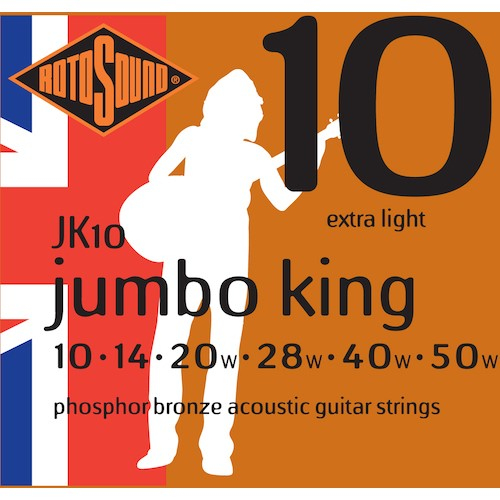 Rotosound Acoustic Strings 10-50 Phosphor Bronze