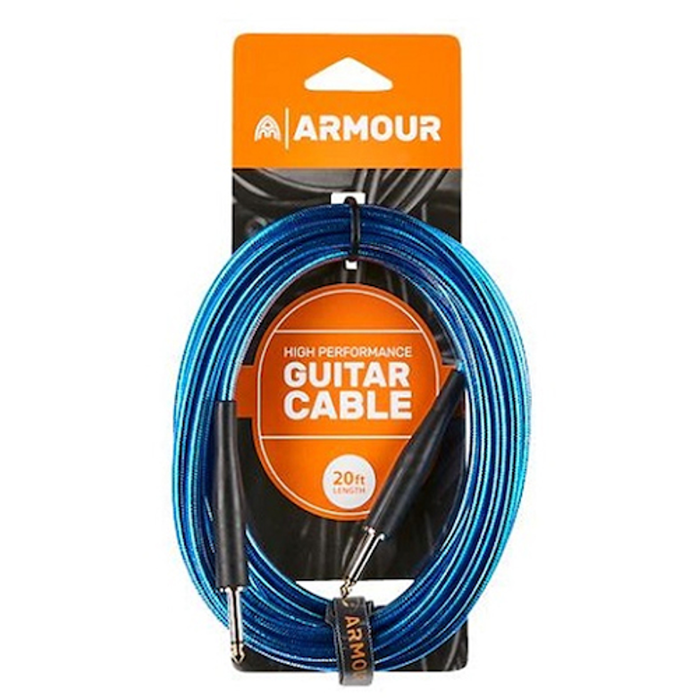 Armour GC20B Guitar Cable 20ft Blue