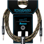 Ibanez Guitar Cable 10ft Woven, Camouflage Green