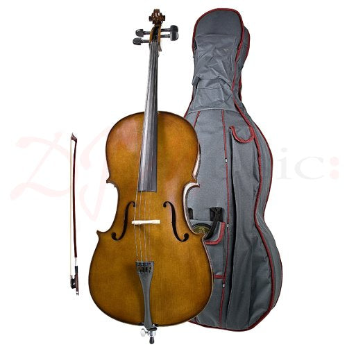 Stentor Student 1 Full Size Cello Outfit with Case and bow