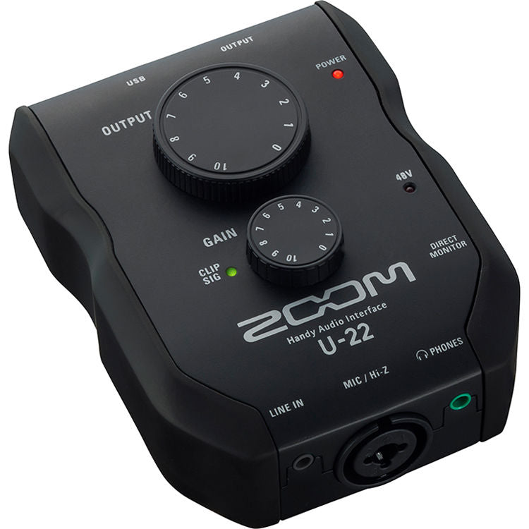 ZOOM U-22 Handy Audio Interface for Mac PC and IOS