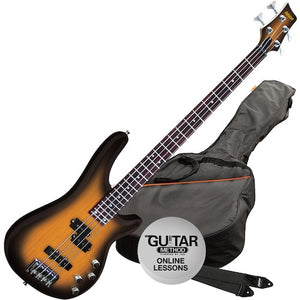 Ashton AB4 Bass Guitar Pack