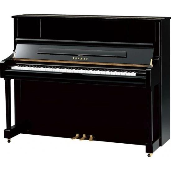 Yamaha U1J 121cm Polished Ebony Piano with matching stool
