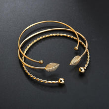 Load image into Gallery viewer, Stunning Leaf Bangle Set