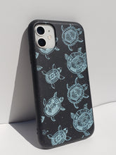 "Load image into Gallery viewer, ""Blue Turtles"" Biodegradable iPhone Case"