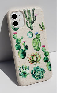 """Cactus Flowers"" Biodegradable iPhone Case"