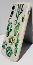 "Load image into Gallery viewer, ""Cactus Flowers"" Biodegradable iPhone Case"