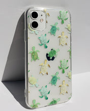 "Load image into Gallery viewer, ""Turtles"" Clear iPhone Case"