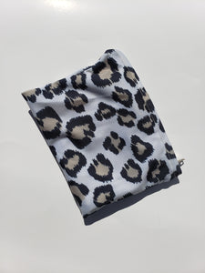 Light Leopard Reuseable Face Mask, Washable Face Mask with matching Pouch, Adjustable with slider on earloop