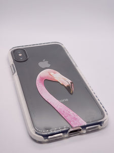 """Flamingo Head"" iPhone Clear Case"
