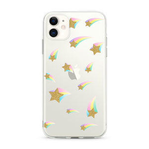 """Shooting Stars"" Clear iPhone Case"