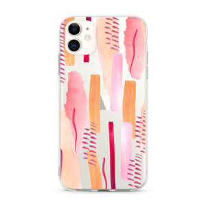 """Abstract Pink Paint"" Clear iPhone Case"