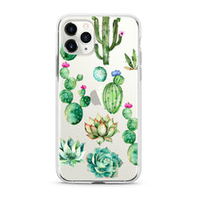"Load image into Gallery viewer, ""Cactus Flowers"" Clear iPhone Case"