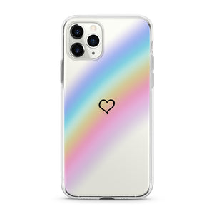 """Rainbow Heart"" Clear iPhone Case"