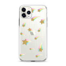 "Load image into Gallery viewer, ""Flying Stars"" Clear iPhone Case"