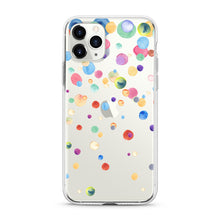 "Load image into Gallery viewer, ""Color Dots"" Clear iPhone Case"