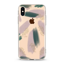 "Load image into Gallery viewer, ""Abstract Green"" Clear iPhone Case"