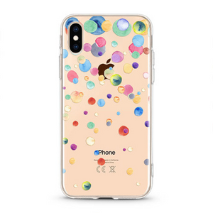 """Color Dots"" Clear iPhone Case"
