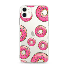 "Load image into Gallery viewer, ""Donuts"" Clear iPhone Case"