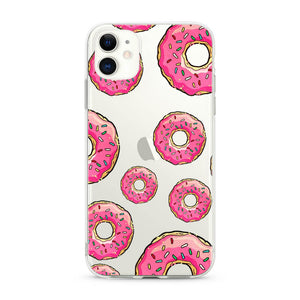"""Donuts"" Clear iPhone Case"
