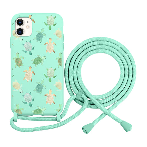 Turtles iPhone case with Adjustable Lanyard, Necklace, iPhone 11 case, iPhone 12 case, Mobile Cover with Cord Strap