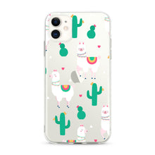 "Load image into Gallery viewer, ""Llama"" Clear iPhone Case"