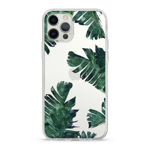 """Tropical Banana Leaves"" Clear iPhone Case"